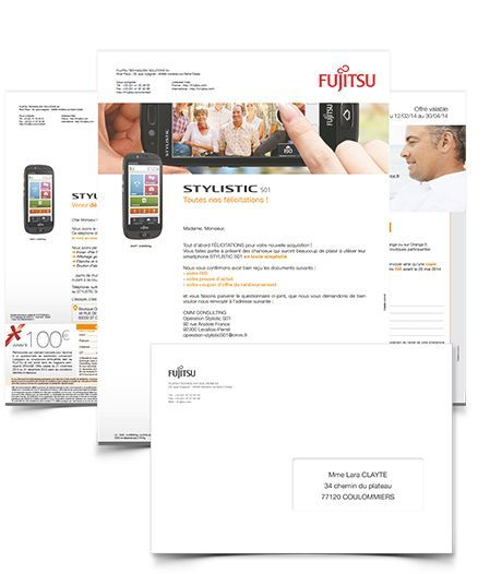 Marketing direct - Lancement nouveau produit mailing courrier